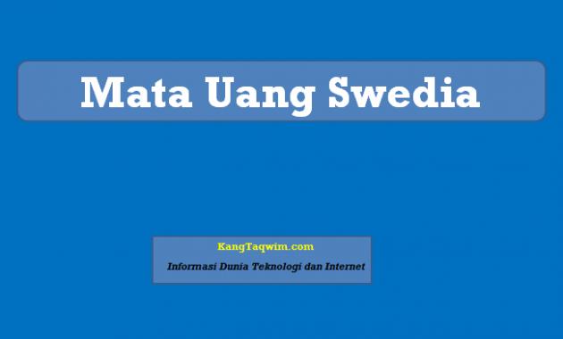 Mata Uang Swedia
