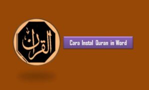 Cara Instal Quran in Word