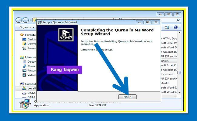 Completing the Quran in Word