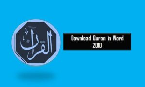 Download Quran in Word 2010