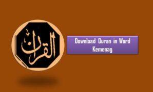 Download Quran in Word Kemenag
