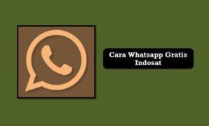 Cara Whatsapp Gratis Indosat