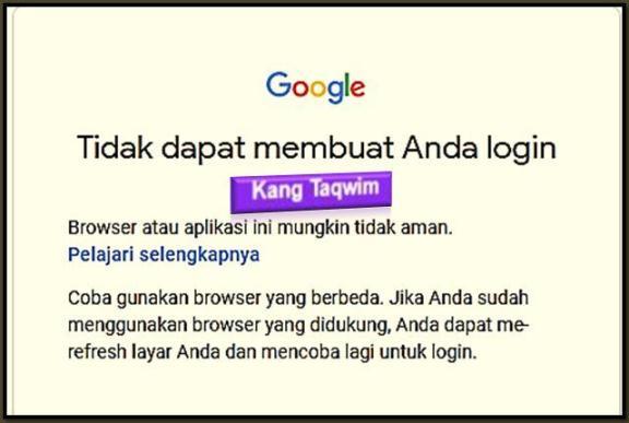 browser tidak aman